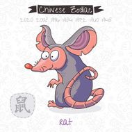Chinese Zodiac Sign Rat Vector illustration