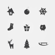 Christmas black icons