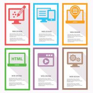 Web design Banners Colorful version vector