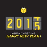 2015 New Year Card Odometer Style Vector Illustration N3
