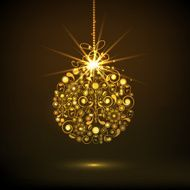 Shiny Xmas ball for Christmas and New Year 2015 celebration