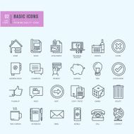 Thin line icons set Universal for website and app design design