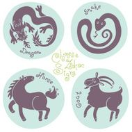 Set signs of the Chinese zodiac N8