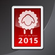 Happy New Year of The Sheep Background N2