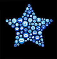 Star royalty-free vector Social Networking and Internet Icon Set