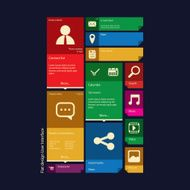 Flat design icons graphic user interface N6
