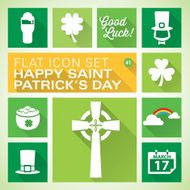 Flat icons 41 St Patrick's Day
