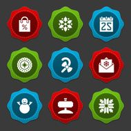 Christmas icons and labels vector set N4