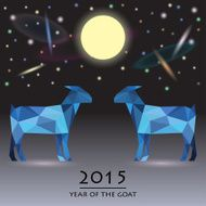 blue goat background the symbol of new year