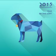 blue abstract goat vector background symbol of the new year