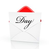 the word day on a card