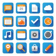 Vector flat icons business media office N3