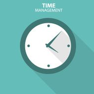 Modern Flat Time Management Vector Icon for Web N4