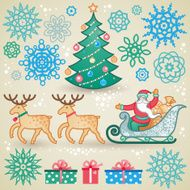 Set of christmas vector elements N3