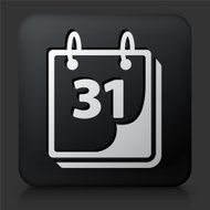 Black Square Button with Calendar Icon N5