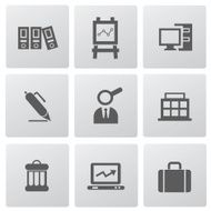 Business & office icons vector N3