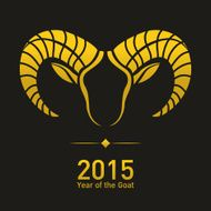Happy new year 2015 Year of the Goat N4