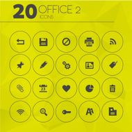 Simple Yellow Thin Office 2 Icons