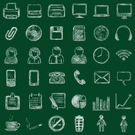 vector office icons N4