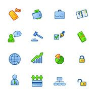 colourful business and money icons