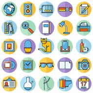 Flat icons design modern vector