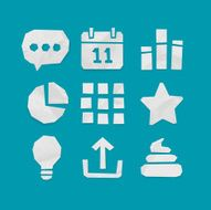 Paper Cut Icons for Web and Mobile Applications Set 4