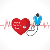 happy doctor day design vector N2