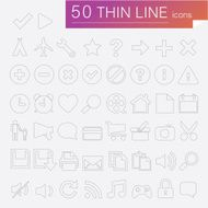 minimalistic thin line icons for websites and mobile apps