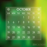 Trendy Abstract Blurry 2014 Hipster Calendar N6