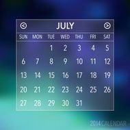 Trendy Abstract Blurry 2014 Hipster Calendar N8