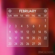 Trendy Abstract Blurry 2014 Hipster Calendar N10