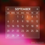 Trendy Abstract Blurry Hipster 2015 Calendar N11