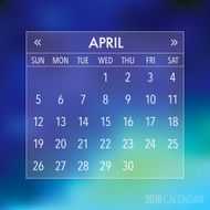 Trendy Abstract Blurry Hipster 2015 Calendar N12