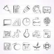 Education science and studies icons N4