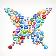 Butterfly royalty-free vector Social Networking and Internet Icon Set