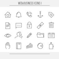Web and business minimalistic icons set 1 N3