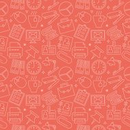 office line icon pattern set N10