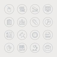 office line icon set N6