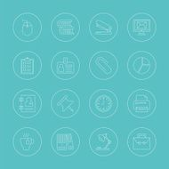 office line icon set N7