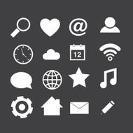 Icons on gray