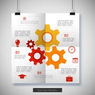 Flat Business Infographic Background N12