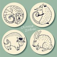 Set of the Chinese zodiac signs N3