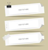 Note paper ready for your message Vector illustration