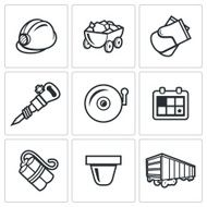 Mine icons Vector Illustration