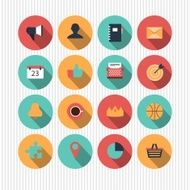 set of vector universal icons N4