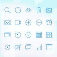 20 Trendy Thin Icons for web and mobile Set 3