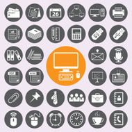Office Icons set vector eps10