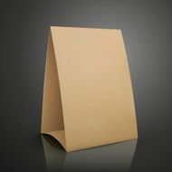 modern 3d blank brown paper table card