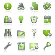 Organizer web icons Gray and green series