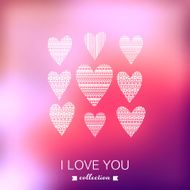Vector Valentine's Day background Blurred template holiday In N4